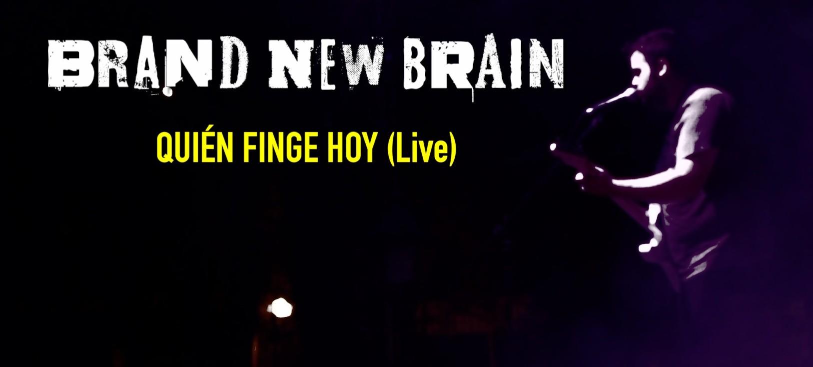 """Nuevo vídeo """"Quién Finge Hoy (Live)"""""""