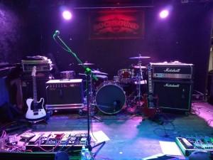 Escenario preparado BNB - Rocksound - Barcelona 18/02/18